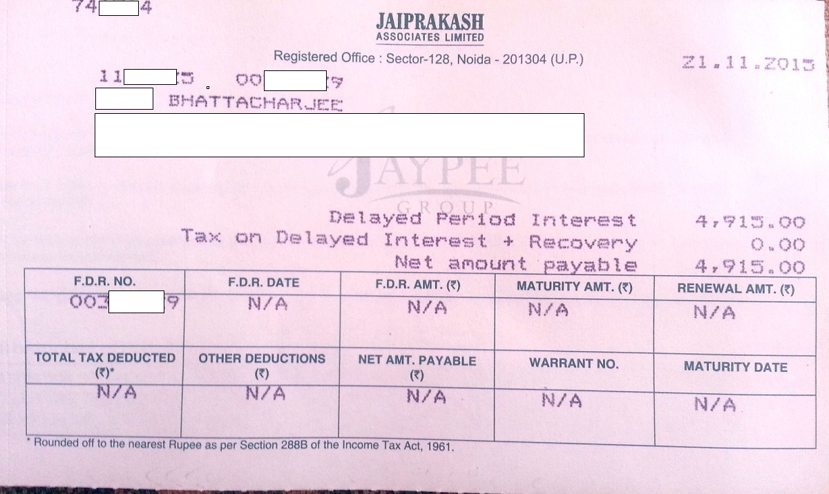 file a complaint against jaypee with ministry of corporate