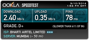 airtel 3g speed test