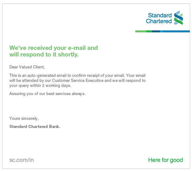 standard chartered bank customer satisfaction