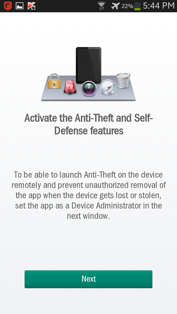 activate anti theft