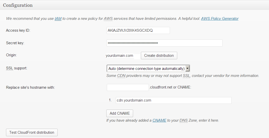 amazon cloudfront cdn configuration