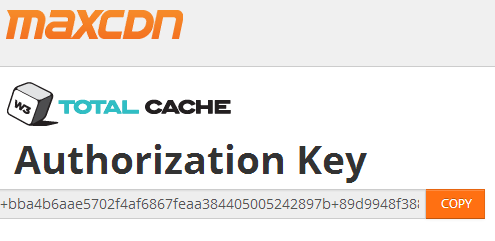 authorization key