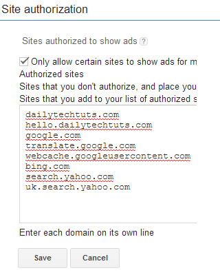 authorized domains