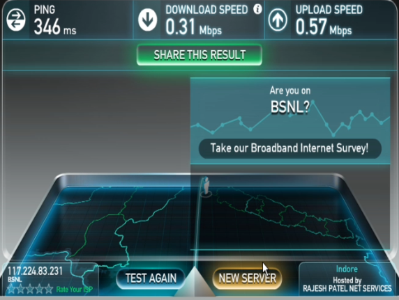 bsnl 3g speed test