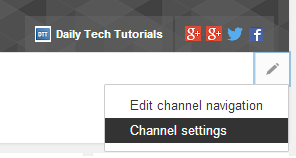 channel settings