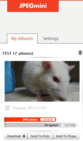 compressed JPEG album