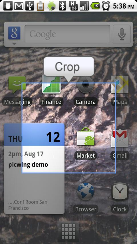 crop screenshot android