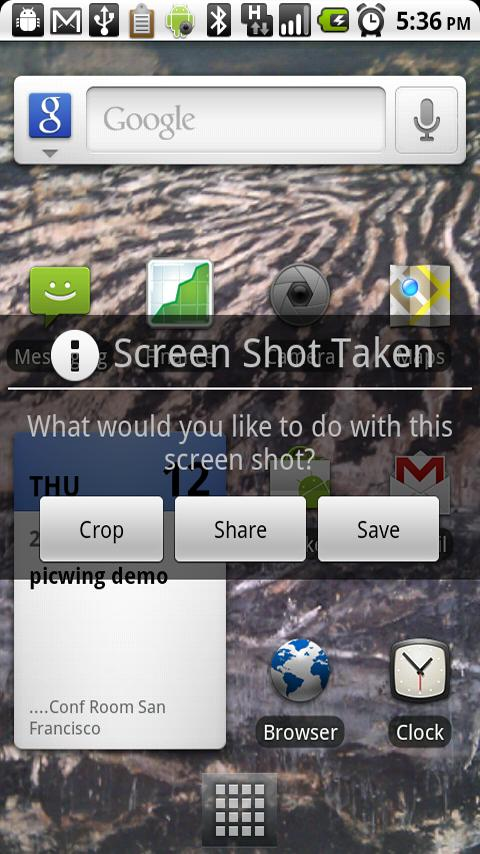crop share save screenshot android
