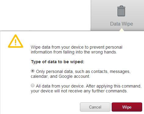 data wipe
