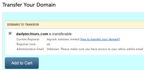domain status before transfer