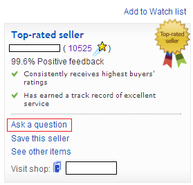 ebay ask a question