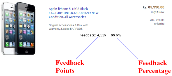 ebay india feedback