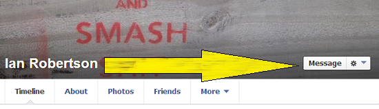 facebook message button