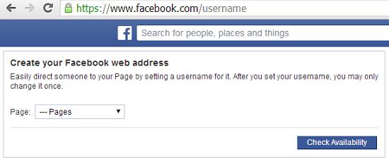 facebook username