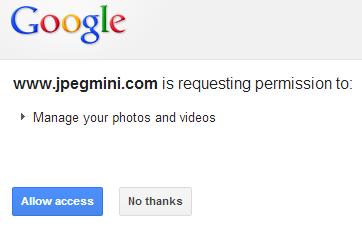 google account access permission