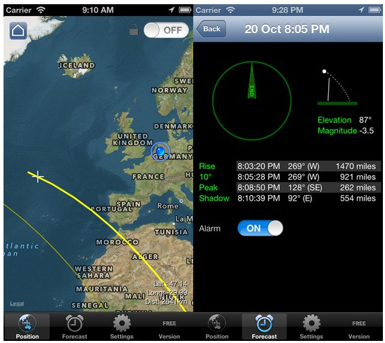 iss detector compass ios