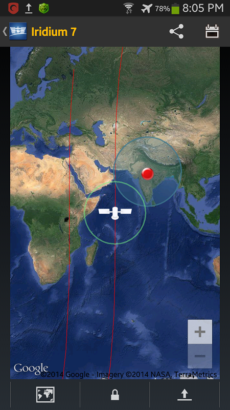 iss on map