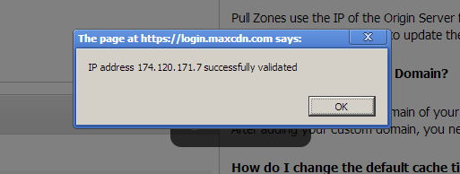 maxcdn ip address validation