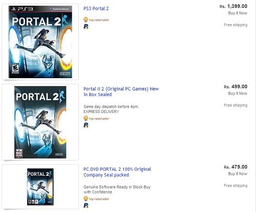 portal 2 ebay