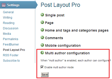 post layout multi author configuration