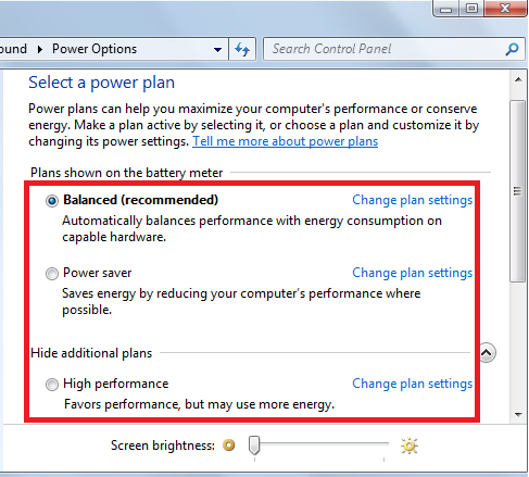 power plans