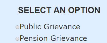 public or pension grievance
