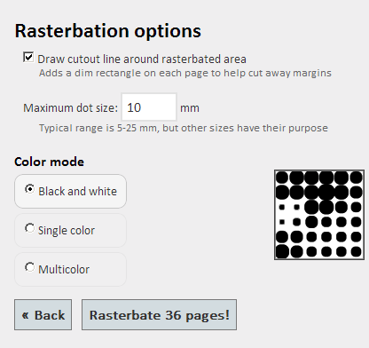 rasterbation options