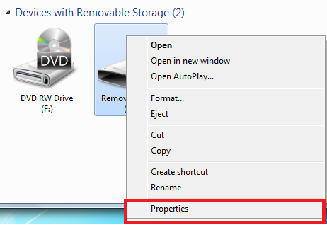 readyboost disk drive properties