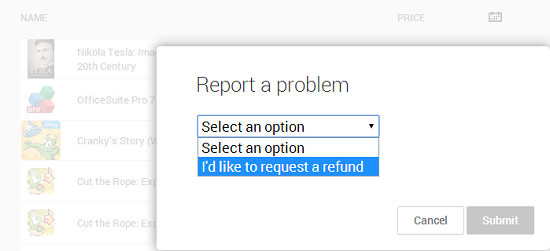 refund request
