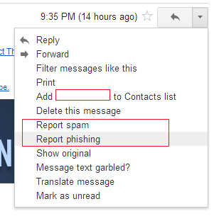 report spam phishing