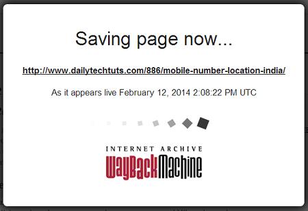 saving page now
