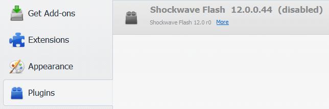shockwave flash disabled in tor