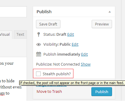 stealth publish
