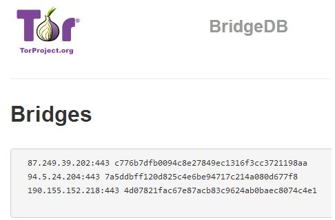 tor IPv4 bridges