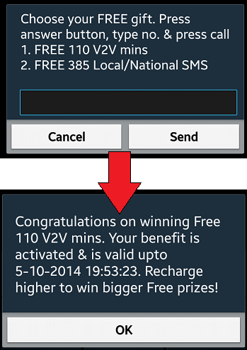 vodafone to vodafone free minutes