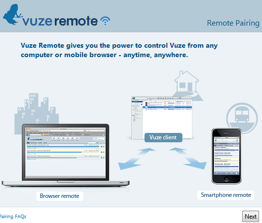 vuze remote pairing