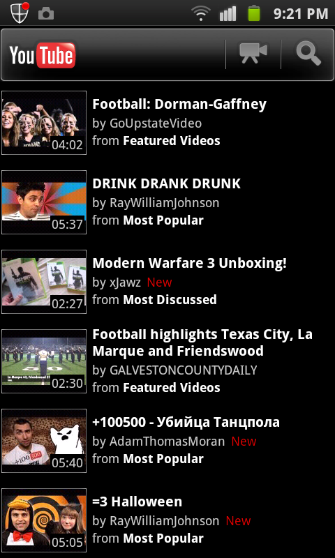 youtube on android