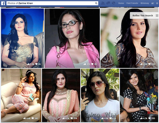 zarine khan facebook